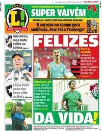 capa Jornal Lance! Rio de Janeiro de 11 janeiro 2020
