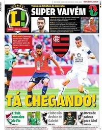 capa Jornal Lance! Rio de Janeiro de 12 janeiro 2020