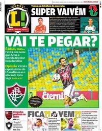 capa Jornal Lance! Rio de Janeiro de 13 janeiro 2020