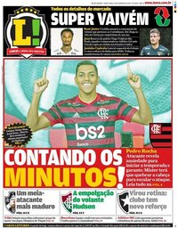 capa Jornal Lance! Rio de Janeiro de 14 janeiro 2020