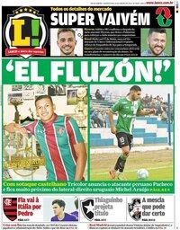 capa Jornal Lance! Rio de Janeiro de 15 janeiro 2020