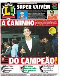 capa Jornal Lance! Rio de Janeiro de 16 janeiro 2020