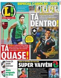 capa Jornal Lance! Rio de Janeiro de 17 janeiro 2020