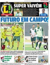 capa Jornal Lance! Rio de Janeiro de 18 janeiro 2020