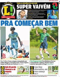 capa Jornal Lance! Rio de Janeiro de 19 janeiro 2020