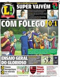 capa Jornal Lance! Rio de Janeiro de 20 janeiro 2020