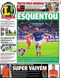 capa Jornal Lance! Rio de Janeiro de 21 janeiro 2020