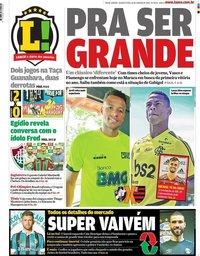 capa Jornal Lance! Rio de Janeiro de 22 janeiro 2020