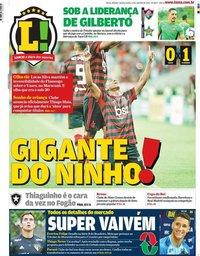 capa Jornal Lance! Rio de Janeiro de 23 janeiro 2020