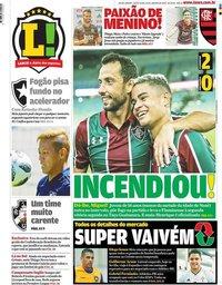 capa Jornal Lance! Rio de Janeiro de 24 janeiro 2020