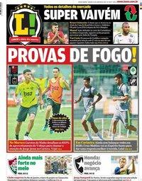 capa Jornal Lance! Rio de Janeiro de 25 janeiro 2020
