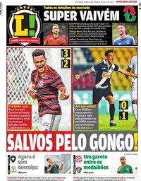 capa Jornal Lance! Rio de Janeiro de 26 janeiro 2020