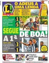 capa Jornal Lance! Rio de Janeiro de 27 janeiro 2020
