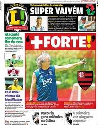 capa Jornal Lance! Rio de Janeiro de 28 janeiro 2020