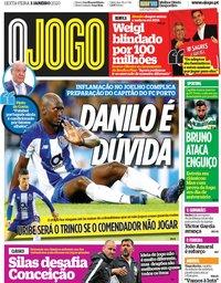 capa Jornal O Jogo de 3 janeiro 2020