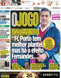 capa Jornal O Jogo de 4 janeiro 2020