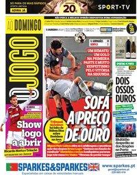 capa Jornal O Jogo de 5 janeiro 2020