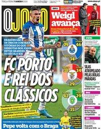 capa Jornal O Jogo de 7 janeiro 2020