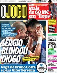 capa Jornal O Jogo de 9 janeiro 2020