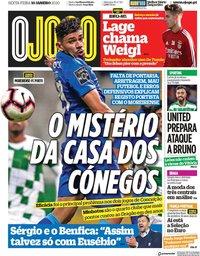 capa Jornal O Jogo de 10 janeiro 2020