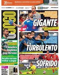 capa Jornal O Jogo de 11 janeiro 2020