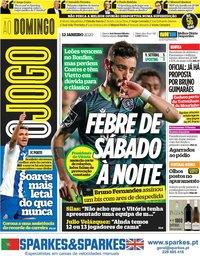 capa Jornal O Jogo de 12 janeiro 2020