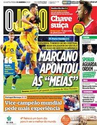 capa Jornal O Jogo de 15 janeiro 2020