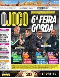 capa Jornal O Jogo de 17 janeiro 2020
