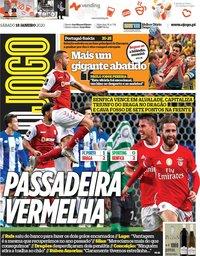 capa Jornal O Jogo de 18 janeiro 2020