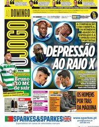 capa Jornal O Jogo de 19 janeiro 2020