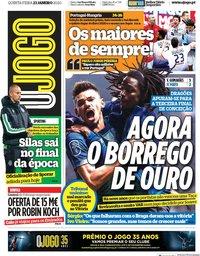 capa Jornal O Jogo de 23 janeiro 2020