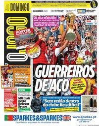 capa Jornal O Jogo de 26 janeiro 2020
