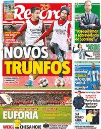 capa Jornal Record de 2 janeiro 2020