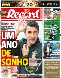 capa Jornal Record de 4 janeiro 2020