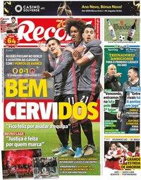 capa Jornal Record de 5 janeiro 2020