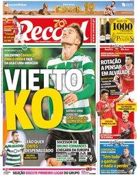 capa Jornal Record de 14 janeiro 2020