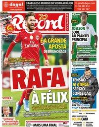 capa Jornal Record de 19 janeiro 2020