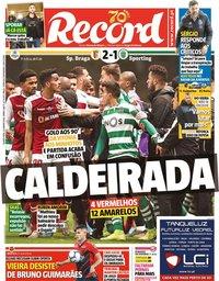 capa de Jornal Record
