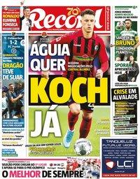 capa Jornal Record de 23 janeiro 2020