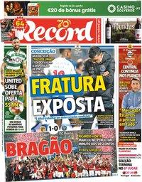 capa Jornal Record de 26 janeiro 2020