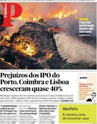 capa Público de 3 janeiro 2020