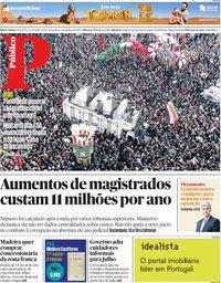 capa Público de 7 janeiro 2020