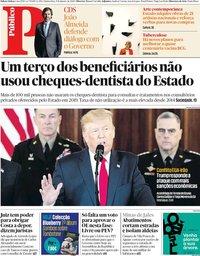 capa Público de 9 janeiro 2020