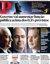capa Público de 11 janeiro 2020