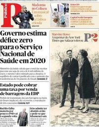 capa Público de 12 janeiro 2020