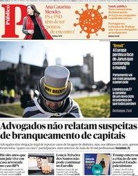 capa Público de 30 janeiro 2020