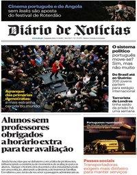capa Diário de Notícias de 3 fevereiro 2020