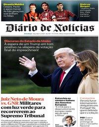 capa Diário de Notícias de 4 fevereiro 2020