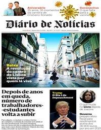 capa Diário de Notícias de 5 fevereiro 2020