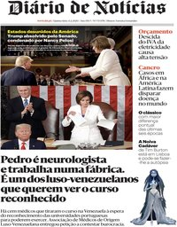 capa Diário de Notícias de 6 fevereiro 2020